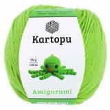 Пряжа Amigurumi Kartopu, 50гр №1390 салатовый