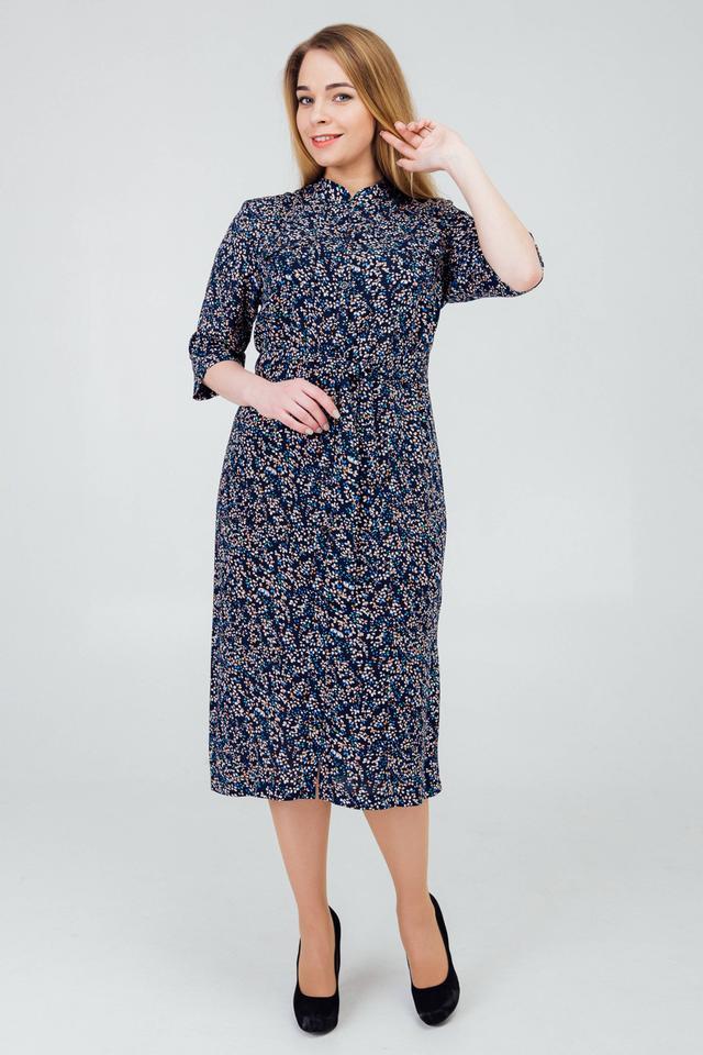 фотография женское платье на пуговицах с поясом в комплекте
