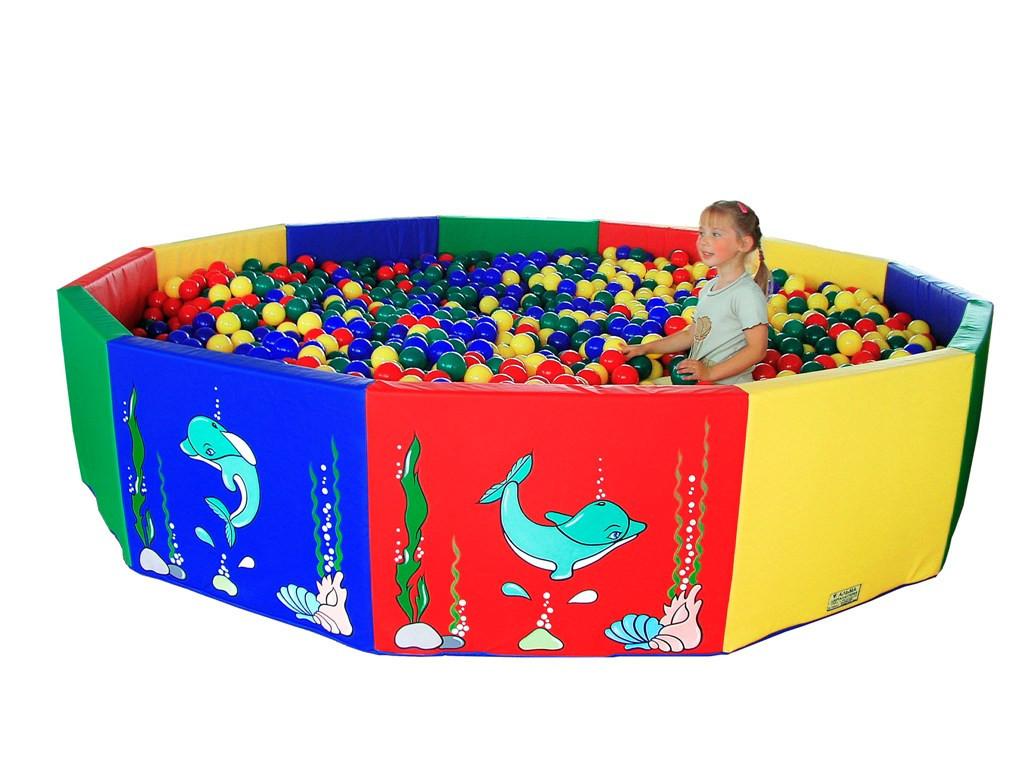 Сухой бассейн круглый 300см разноцветный ПВХ поролон