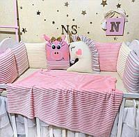 Бортики в кроватку для новорожденного, детское постельное белье для девочки