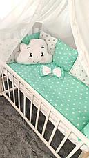 """Набір постільної білизни дитяче ліжечко/ манеж """"Хмара"""" - Бортики в ліжечко: конверт-ковдру - 8 предметів, фото 3"""