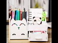Подставка - органайзер для канцелярских предметов Белая
