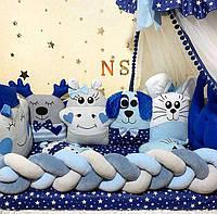 Бортики в кроватку для новорожденного, детское постельное белье для мальчика PREMIUM