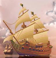 Картина с бисером МММР-006 Парусник в облаках