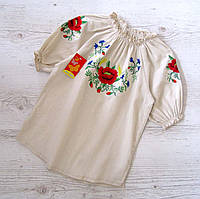 Р.122-146 распродажа! детская вышиванка Лён, фото 1