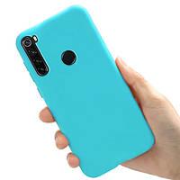 Чехол Style для Xiaomi Redmi Note 8T силиконовый бампер Голубой