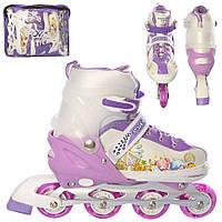 Детские раздвижные ролики на шнуровке и бакле, в сумке (39-42рр.)