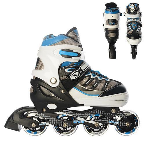 Купить Роликовые коньки и лыжероллеры, Роликовые коньки Profi Roller A 15104-L-1 (38-41) алюминий + PU