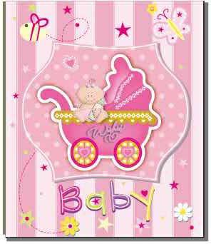 "Фотоальбом ""EVG"" №BKM46200/5869 10х15х200 Baby car pink"