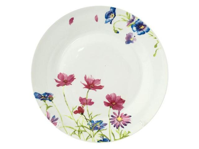 """Тарілка керам. """"Рожева квітка"""" 10,5"""" №55621(6)(24)/S&T"""