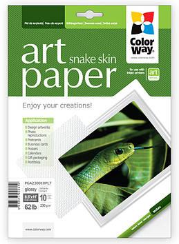 """Фотопапір """"CW ART"""" 216х279мм 230г/м глянц./факт. шкіра змії №PGA230010PLT(10)"""