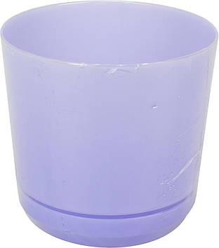 Горщик квітковий пластиковий d160мм-105,v-2,5 л бузковий(10)