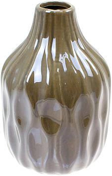 Ваза керам. h-15,6см, перламутрова сірий №795-401/Bonadi/2)(32)