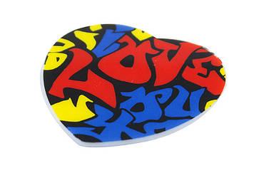 """Магніт пластиковий круг. """"Love"""" mix4 №MC-1331/1551(12)"""