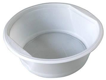 Тарілка пласт. супна 500мл біла №1080100/Buroclean/(100)