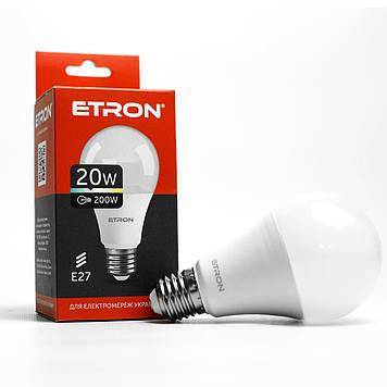 """Лампа """"Etron Light Power"""" LED 1-ELP-002 A70 20Вт 4200K Е27(10)"""
