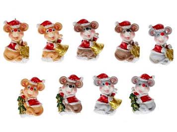 """Магніт """"Мишки в костюмі Санти"""" 5,5см,9видів №SG10-121/Bonadi/(48)(576)"""