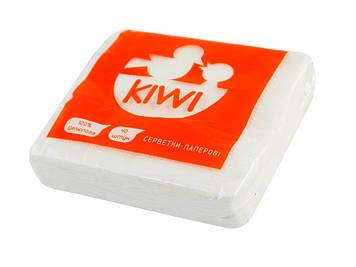 """Серветки столові """"Kiwi"""" (40шт) білі Еко №0033(20)(100)"""