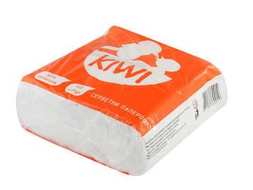 """Серветки столові """"Kiwi"""" (450шт) Барна білі Еко №0019(9)"""