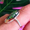 Серебряное кольцо с опалом и золотом, фото 3
