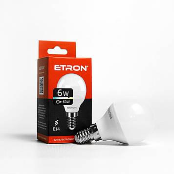 """Лампа """"Etron Light Power"""" LED 1-ELP-047 G45 6Вт. 3000K E14(10)"""