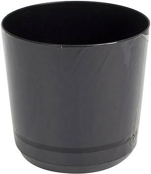 Горщик квітковий пластиковий d125мм-43,v-1,4 л чорній(10)