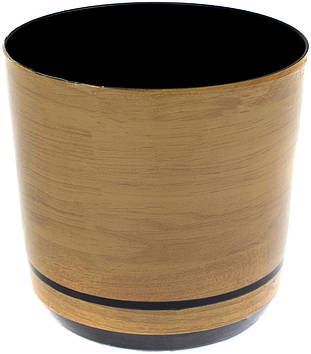 Горщик квітковий пластиковий d160мм-13,v-2,5 л дерево(10)