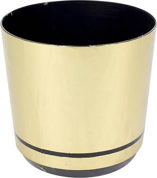 Горщик квітковий пластиковий d160мм-14,v-2,5 л золото(10)