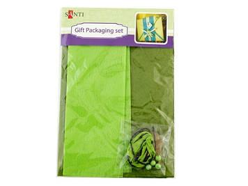"""Набір для упаковки подарунка """"Santi"""" №952059 2шт 40х55см зелен.-хакі"""