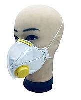 Противовирусный респиратор маска МИКРОН с клапаном выдоха  степень защиты FFP2 N95