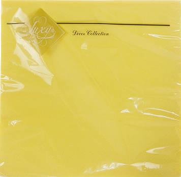 """Серветки столові ТМ """"Luxy"""" 3-х шарові (20шт) жовта(15)"""