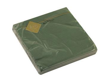 """Серветки столові ТМ """"Luxy"""" 3-х шарові (20шт) зелена(15)"""