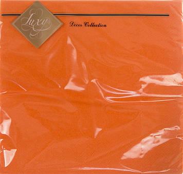 """Серветки столові ТМ """"Luxy"""" 3-х шарові (20шт) помаранчева(15)"""