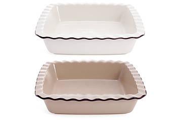 Форма для випічки квадратна,2види(молочна,бежева) №319-339/Bonadi/(1)