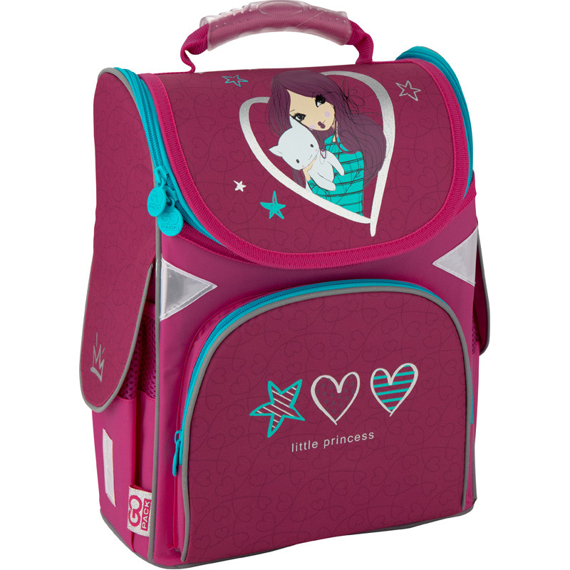 Рюкзак GoPack Education каркасний Little princess GO20-5001S-3