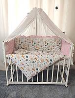 """Набор постельного белья детскую кроватку/ манеж """"Стежка"""" - Бортики в кроватку / защита в детскую кроватку"""