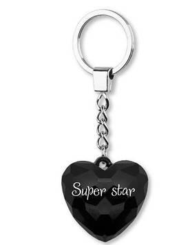 """Брелок серці №006 """"Super star"""" Gold"""