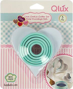 """Набір форм для випічки """"Серце"""" (5шт) пласт. №15395/L539/Qlux/(28)"""