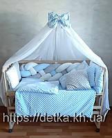 """Комплект """"постельный в детскую кроватку с конвертом"""", голубой"""