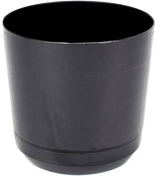 Горщик квітковий пластиковий d160мм-43,v-2,5 л чорній(10)