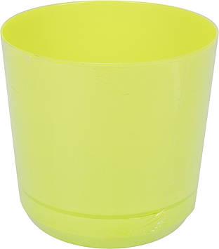 Горщик квітковий пластиковий d160мм-103,v-2,5 л салатовий(10)