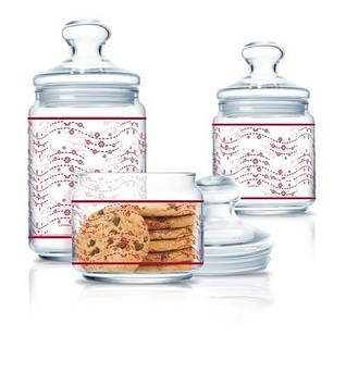 """Набір банок для сип. продуктів скло """"Luminarc. Teilo"""" (3шт) 0,5х0,75х1,0л №P2042/27746(5)"""
