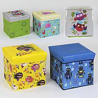 Пуфик-короб для хранения игрушек С 36526 (4 вида)
