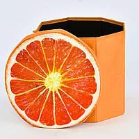 Пуфик-короб для хранения игрушек Апельсин C 30190