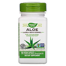 """Алоэ с фенхелем Nature's Way """"Aloe Latex with Fennel"""" 140 мг (100 капсул)"""