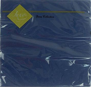 """Серветки столові ТМ """"Luxy"""" 3-х шарові (20шт) синя(15)"""