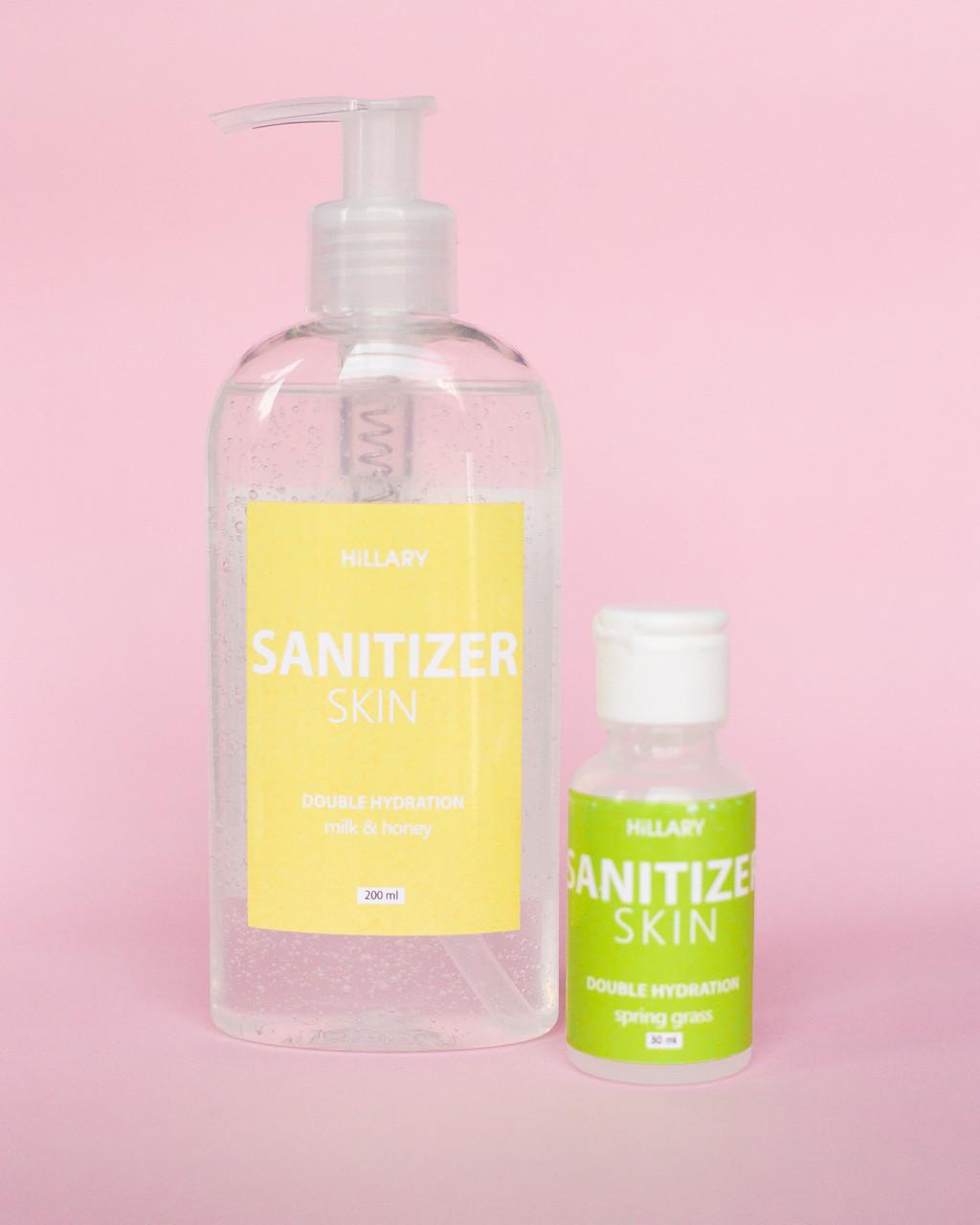 Антисептик Санитайзер Skin SANITIZER DOUBLE HYDRATION milk & honey с дозатором