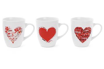 """Чашка керам. 350мл """"Love"""" 3види №334-400/Bonadi/(12)(48)"""