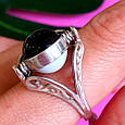 Серебряное кольцо Инь-Янь - Кольцо из серебра День-Ночь, фото 4
