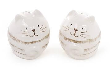 """Набір для спецій керам. (2предм.) сіль+перець 6,3см """"Котик"""" білий №834-117/Bonadi/(4)(72)"""
